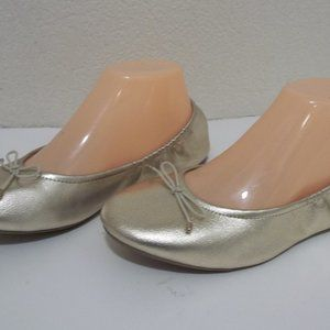 AMERICAN EAGLE MEMORY FOAM GOLD BALLET SLIPPER 5.5